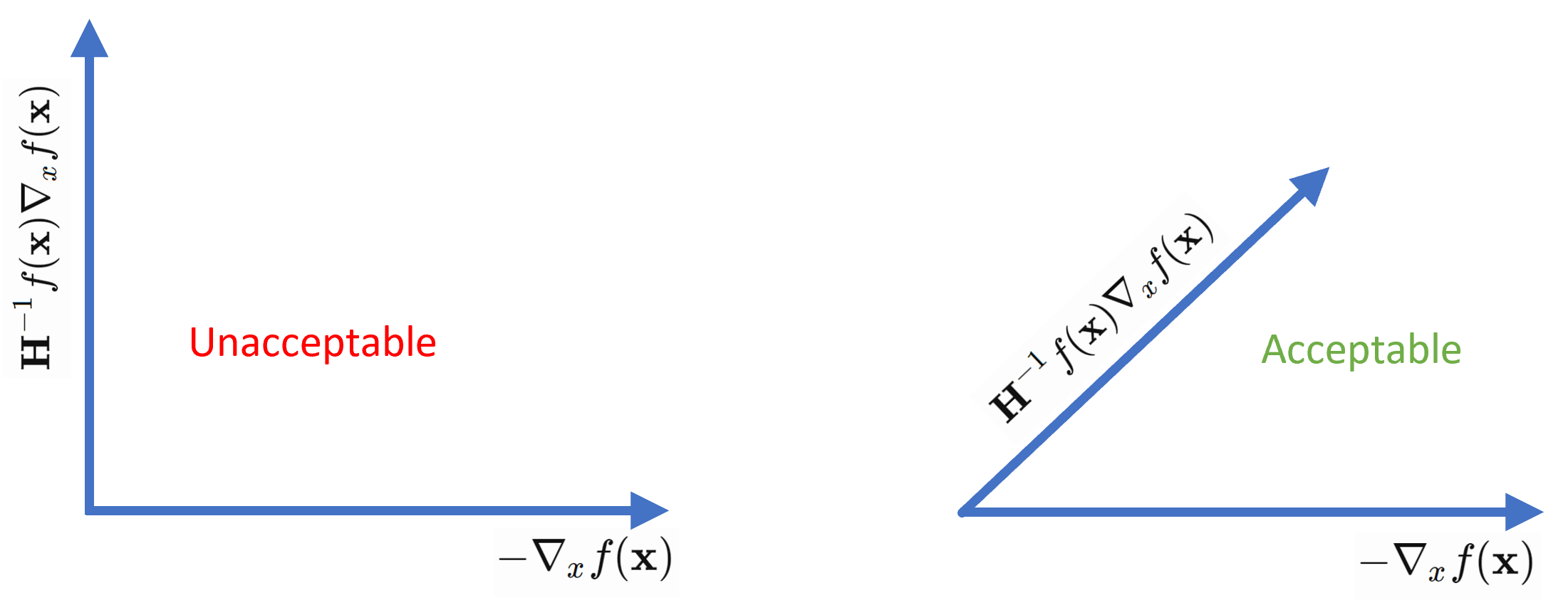 Angle condition in Newton method