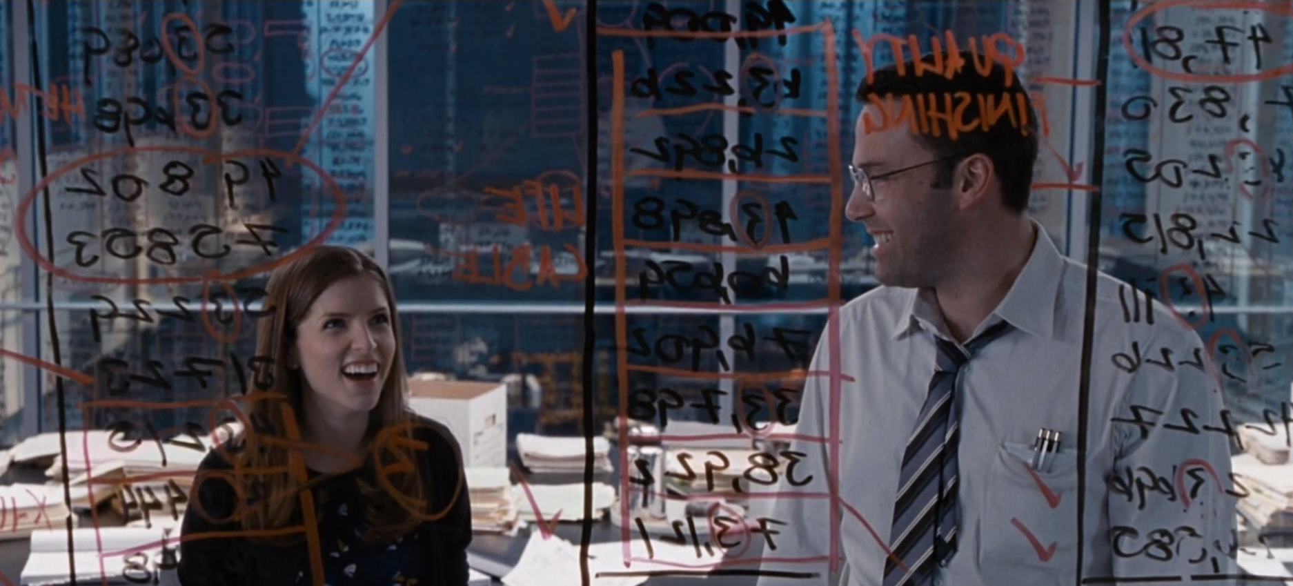 Benford law in The Accountant movie